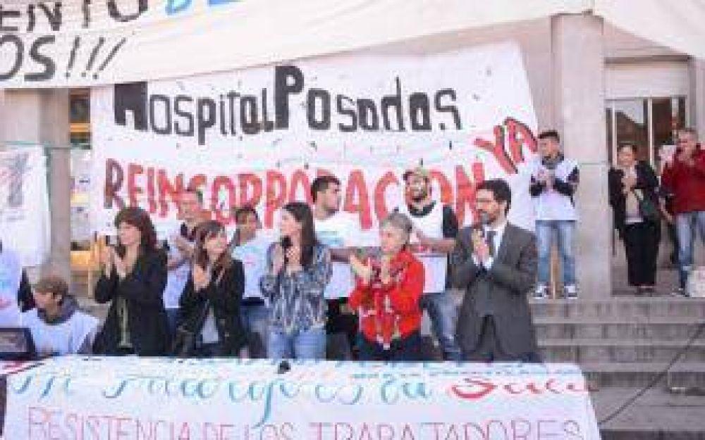 Médicos van al paro en el Hospital Posadas y marchan a Capital Federal