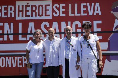 Pilar y el Hospital Garrahan, juntos por la donación de sangre