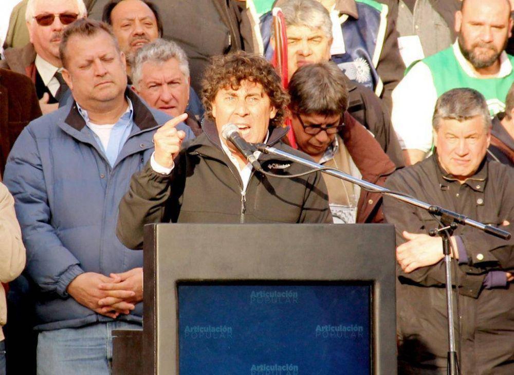 Micheli busca un paro general con movilización a Plaza de Mayo, en febrero