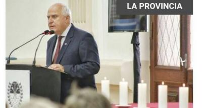 Lifschitz participó de un acto en memoria a víctimas del Holocausto