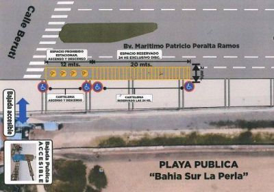 Volvió al Concejo la propuesta de crear un estacionamiento para discapacitados en Perla Norte