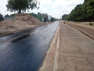 Avanza la obra: La primera capa de asfalto para la 10 ya fue colocada
