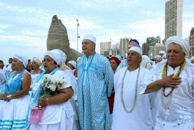 Se realizó la ceremonia a Iemanjá