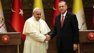 Erdogan llega al Vaticano: sintonía sobre Jerusalén; no sobre los kurdos y los derechos humanos