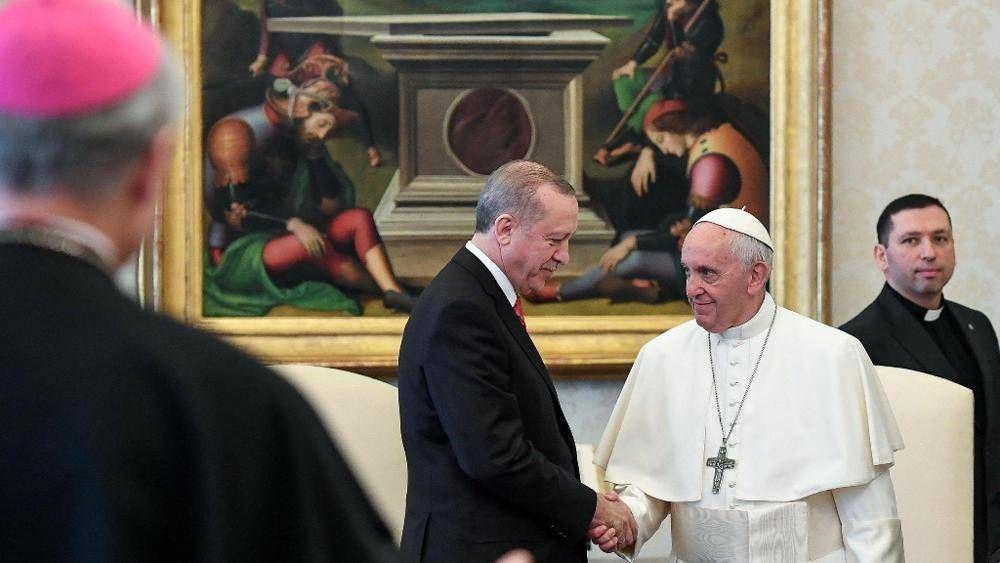 Jerusalén; el Papa estuvo 50 minutos con el presidente turco Erdogan