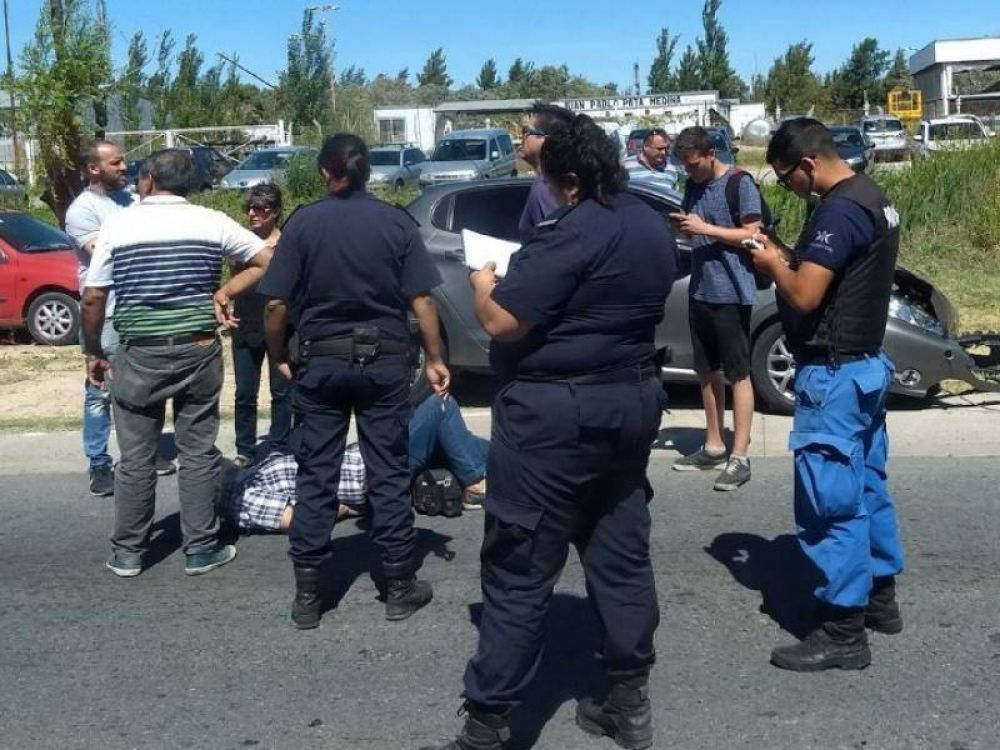 Daniel Rapanelli, dirigente de Suteba, casi se mata en un accidente de tránsito