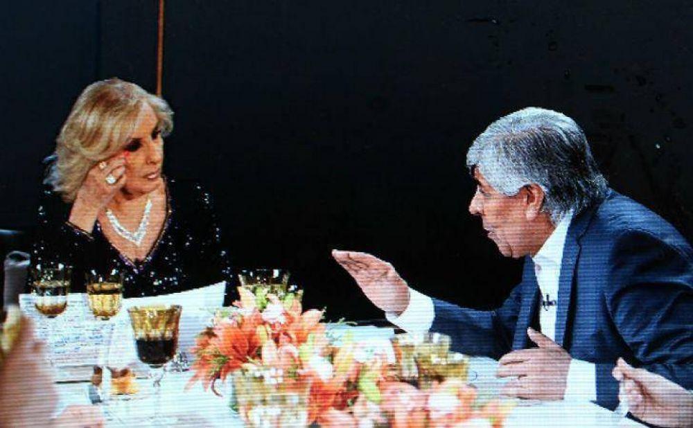 Hugo Moyano estuvo con Mirtha: