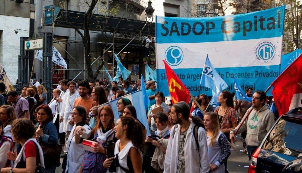 SADOP pide paritarias libres y que se aplique la cláusula gatillo en la CABA