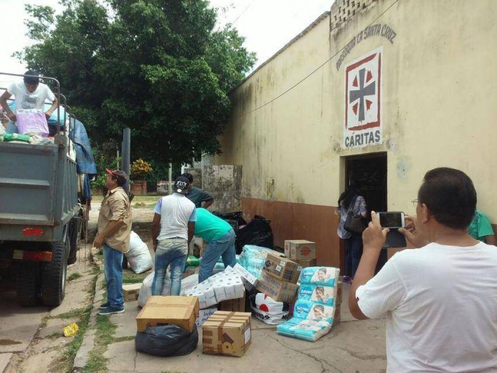 Continúa la ayuda de Cáritas con los inundados
