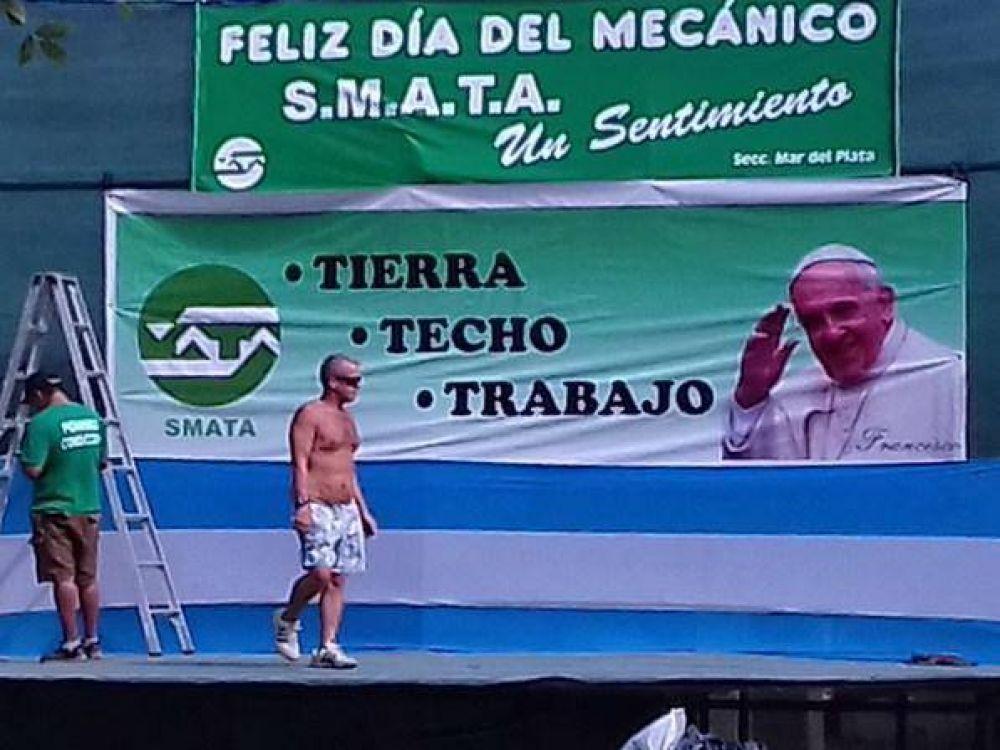 Trabajadores de SMATA celebran su día junto al Obispo Gabriel Mestre