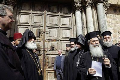 Cierran el Santo Sepulcro por una disputa económica de los cristianos con Israel