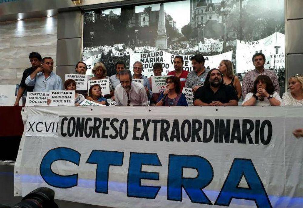CTERA anunció paro nacional: