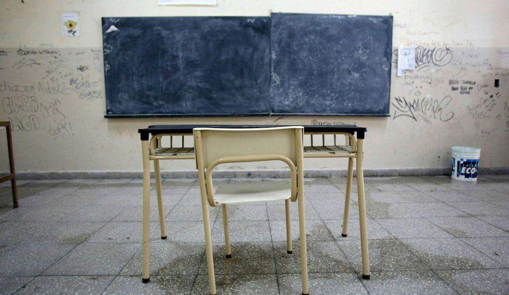 Aulas vacías: comienza el paro docente por 48 horas