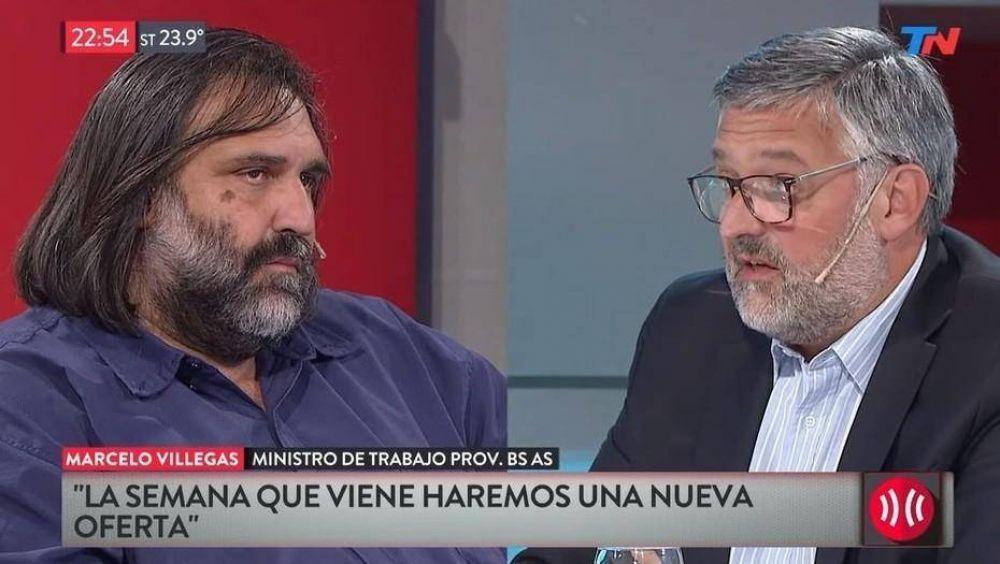 Paro docente: Baradel y un ministro de María Eugenia Vidal negociaron en televisión