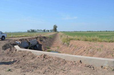 Cinco mil metros de drenaje para aguas pluviales de la zona