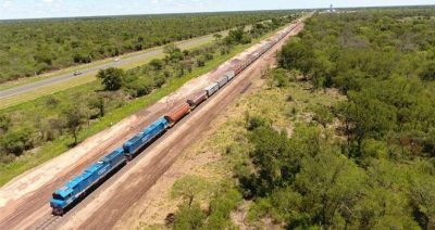 El tren de carga sigue creciendo en materia de carga transportada en todo el país