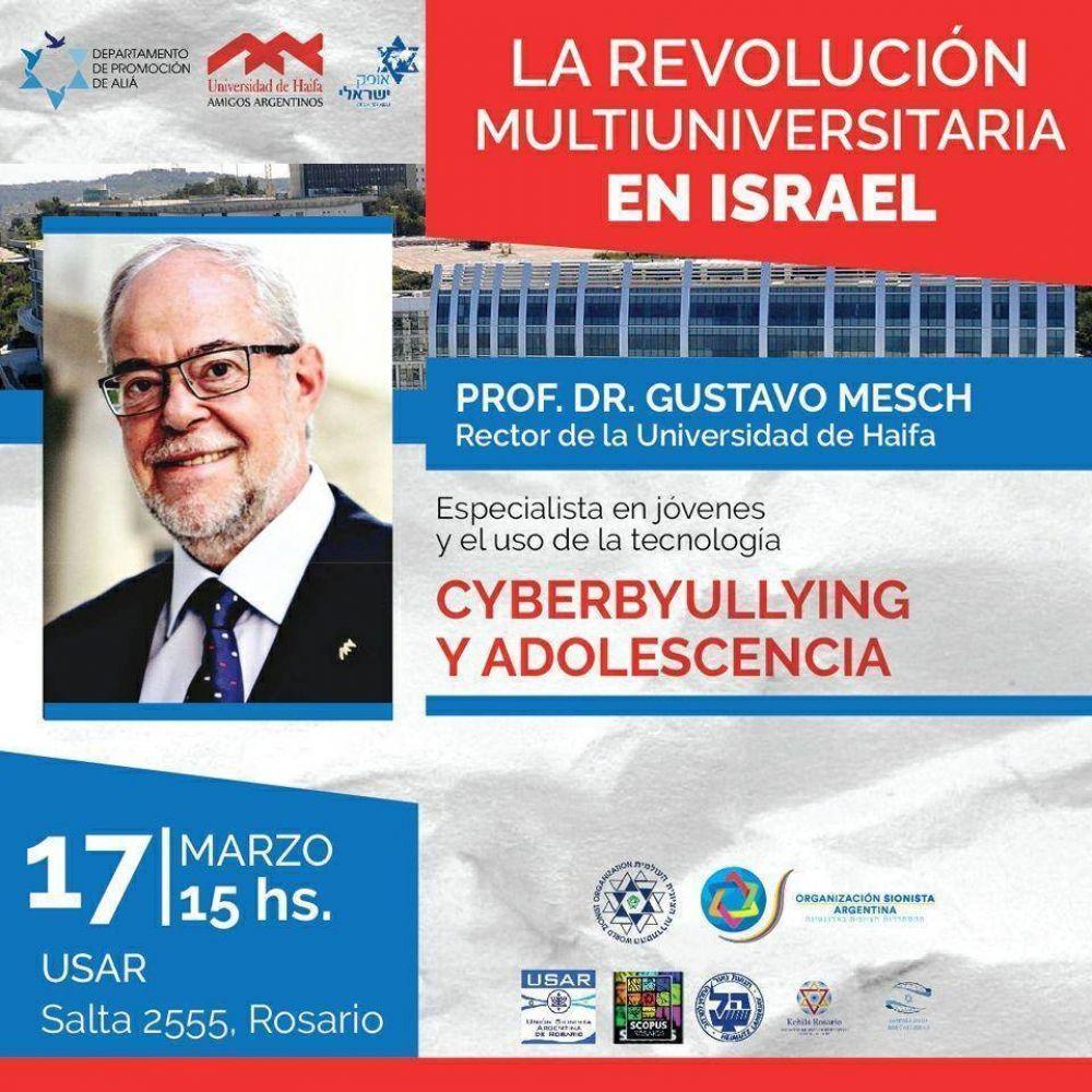 El rector de la Universidad de Haifa brindará una serie de conferencias en la Argentina