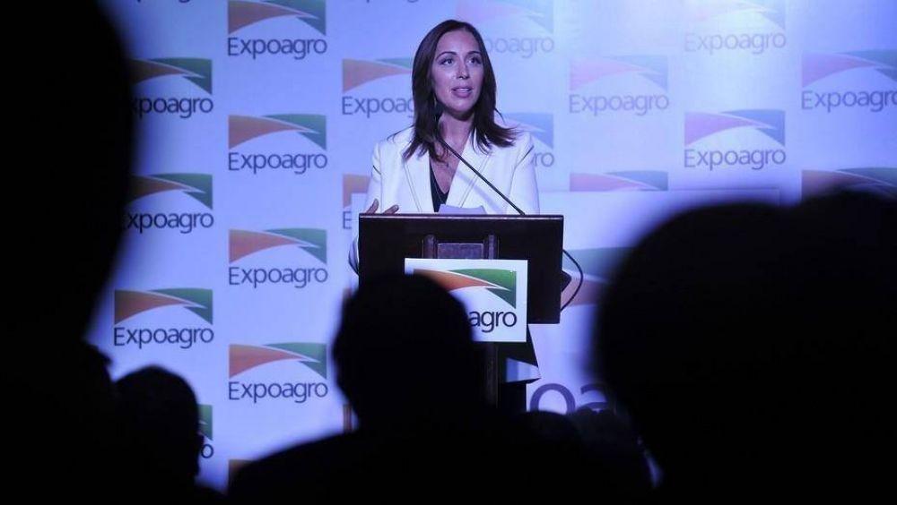 En el arranque de Expoagro, María Eugenia Vidal respaldó al agro: