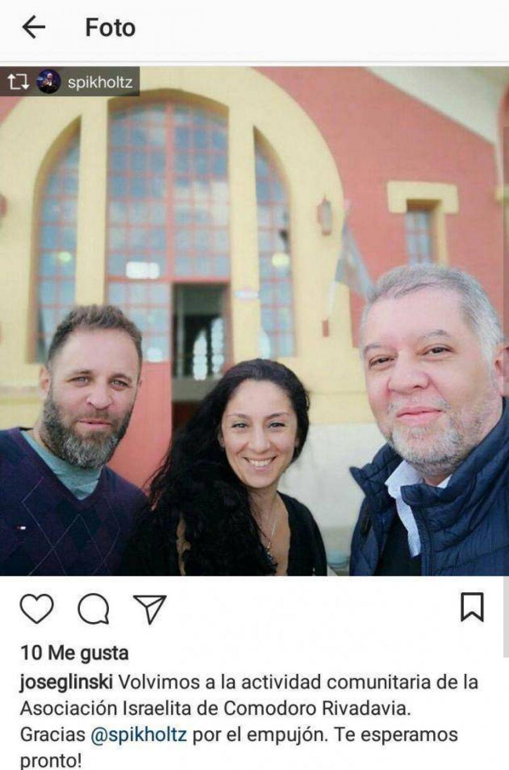 OSA. Sergio Pikholtz estuvo presente en el primer encuentro de la kehilá de Comodoro Rivadavia