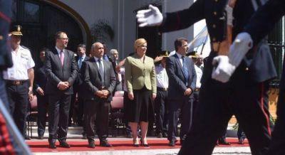 Al final, Vidal no se mostró con la presidenta de Croacia y mando a Ritondo