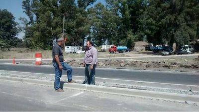 General Paz: el intendente Álvarez recorrió obras en Loma Verde