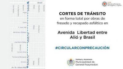 Inician obras de asfalto en la avenida Libertad desde Alió hacia Brasil