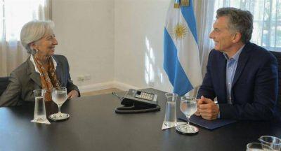 Lagarde visitó a Macri y volvió a elogiar