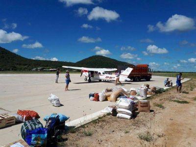 Chaco: usan avioneta ante la falta de caminos