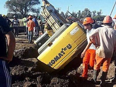 Muere operario en una zanja del Acueducto Oeste que construye Obras Sanitarias