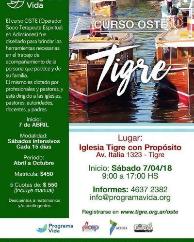 Comienza en Tigre el curso de prevención en adicciones del programa vida