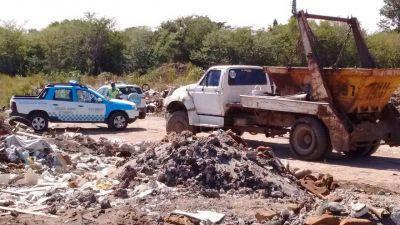 La Municipalidad de Escobar clausuró un basural clandestino