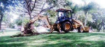 Retiran un tronco que obstruía el desagüe principal del Parque Camba Cuá