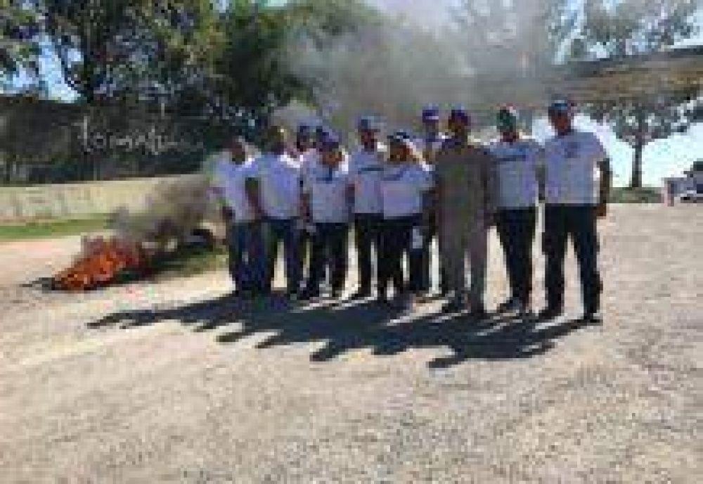 Trabajadores del Country Loma Linda realizaron una nueva jornada de protesta