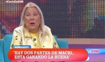 Carrió llevó su rutina de provocaciones al show PRO de Mariana Fabbiani