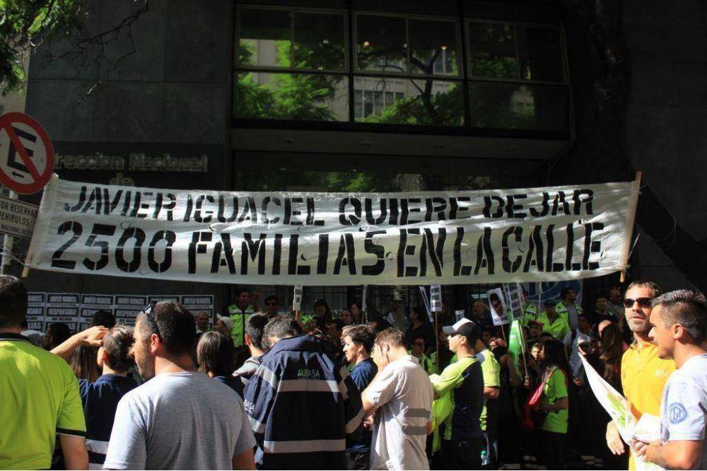 SUTPA protestó frente a Vialidad Nacional contra el cierre de peajes