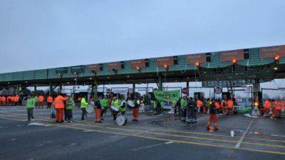 Protesta de trabajadores de peajes