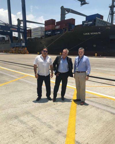 Directivos de TC2 visitaron puerto de Cartagena