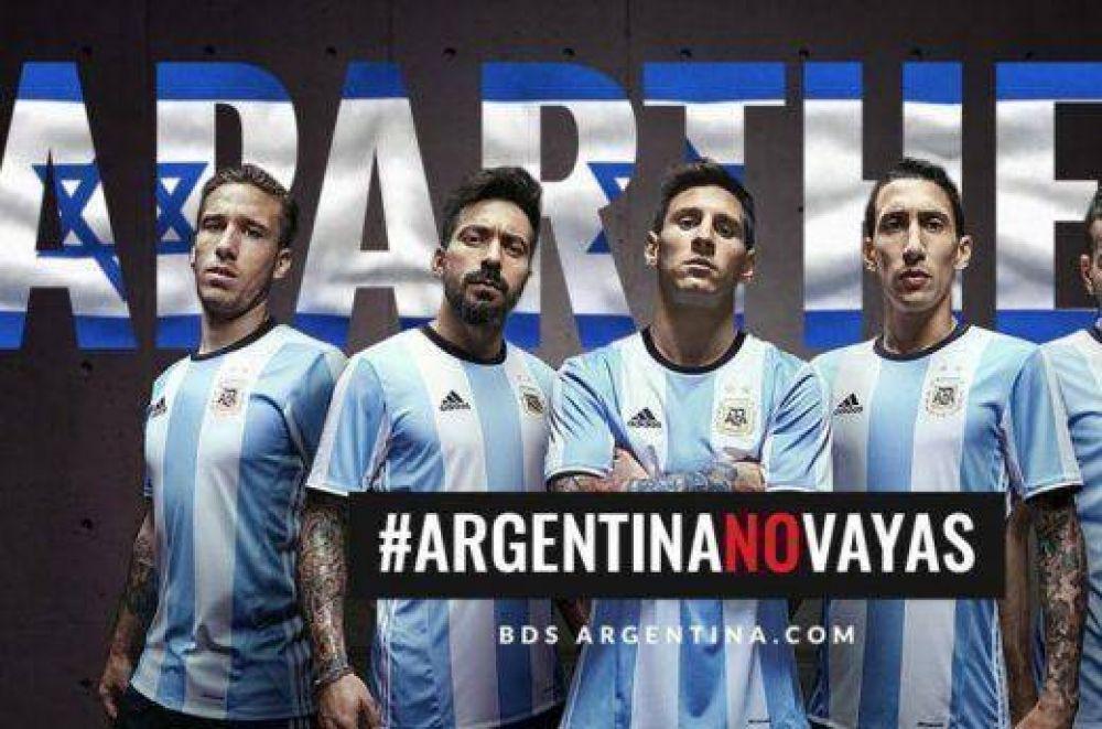 #ArgentinaNoVayas, la campaña para que la Selección no viaje a Tel Aviv a jugar un amistoso ante su par israelí