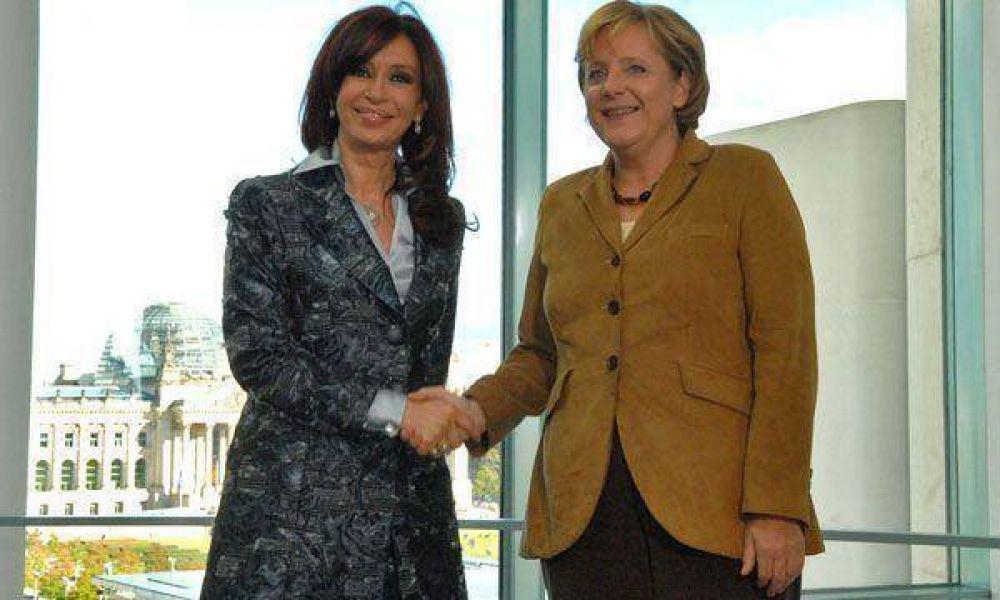 Cristina Kirchner se reunirá hoy con la canciller alemana Angela Merkel