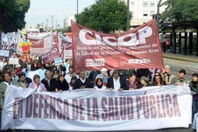 Médicos y profesionales de la salud bonaerenses le exigen a Vidal que los convoque a paritarias