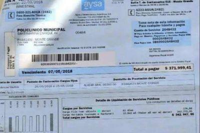 A un hospital público le llegó una boleta de agua de más de $370 mil