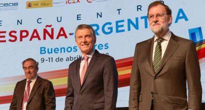 Ante empresarios, Macri y Rajoy llamaron a