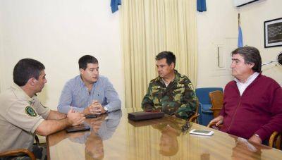 Reunión para atacar la problemática de la seguridad rural en el Distrito
