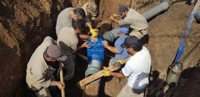 Se realizó una importante reparación en la red de agua potable