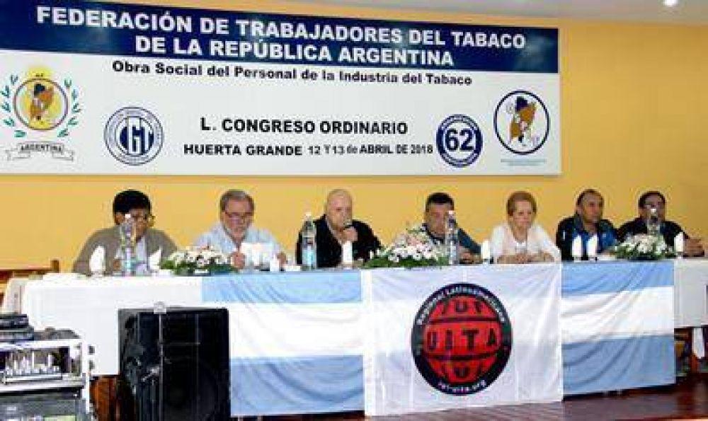 Sesiona El Congreso de la Federación Trabajadores del Tabaco