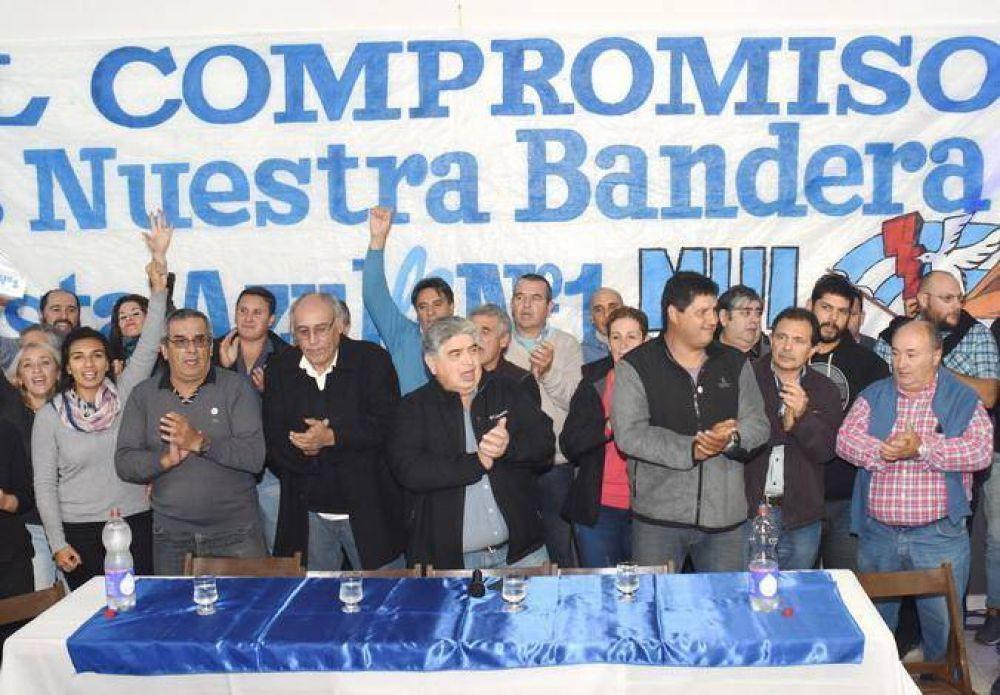Rigane presidió el lanzamiento de la Lista N°1 Azul de Luz y Fuerza en Balcarce