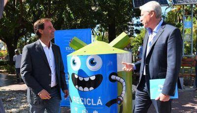 Sujarchuk presentó un sistema de bateas verdes para reciclar los residuos urbanos
