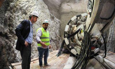 "Frigerio presentó ""Elisa"", la tunelera del colector cloacal Matanza - Riachuelo"