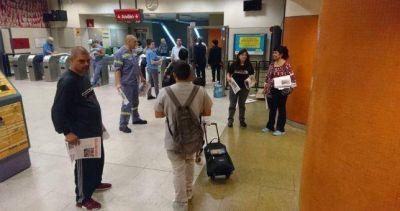Cuarta jornada consecutiva de protesta de los Metrodelegados contra el cierre paritario de Larreta con la UTA