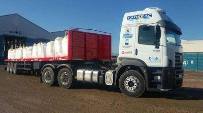Prueba piloto entre Bahía y Vaca Muerta con un camión que carga 52 toneladas